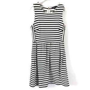 Madewell Black White Striped Afternoon Dress Small